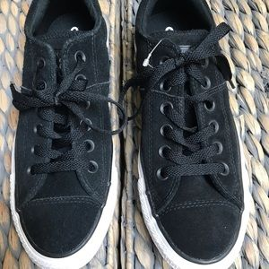 Converse Shoes - NWOT Black Suede Converse